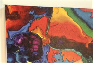 Sampel percetakan kanvas WER-E2000UV