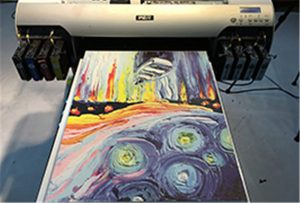 Sampel kanvas dari A2 UV Printer WER-EH4880UV
