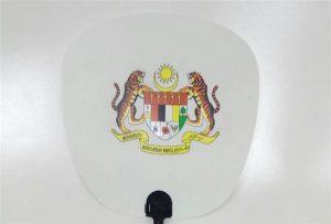 Sampel kipas plastik dicetak oleh pencetak uv ukuran 601 601UV